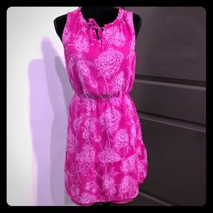 MERONA Fuchsia Floral Printed Dress